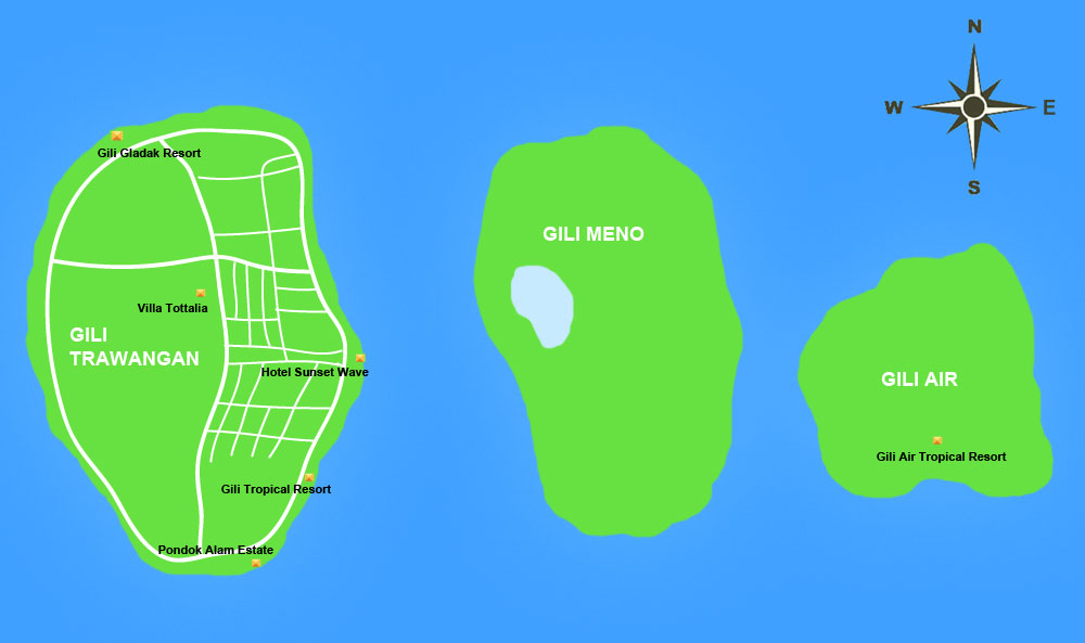 Gili Map Balijet Aime Instant Booking Villa And House